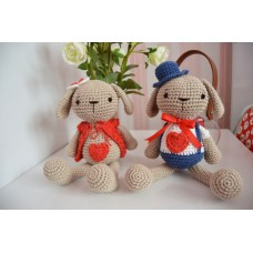 Amigurumi Mrs & Mrs Bunny  - cotton