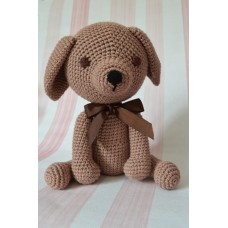 Amigurumi Light brown Dog - cotton