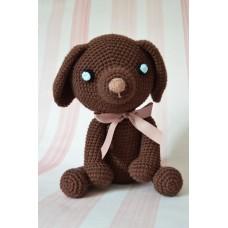 Amigurumi Brown dog - cotton