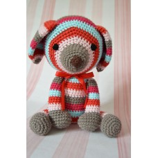 Amigurumi striped Dog - cotton