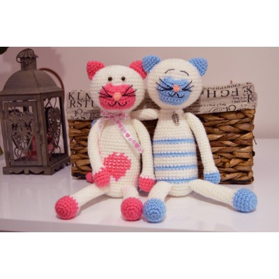 Amigurumi Cat Couple - acrylic