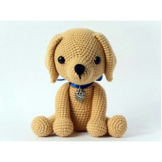 Amigurumi Dog plain brown - ACRYLIC